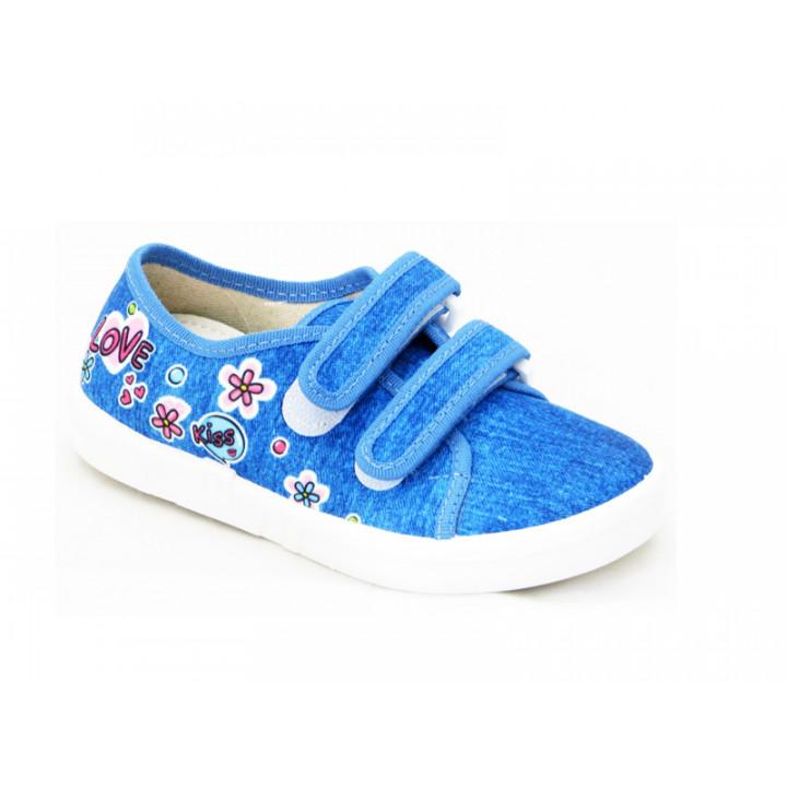 Купить текстильные мокасины для девочек Natur 360-272