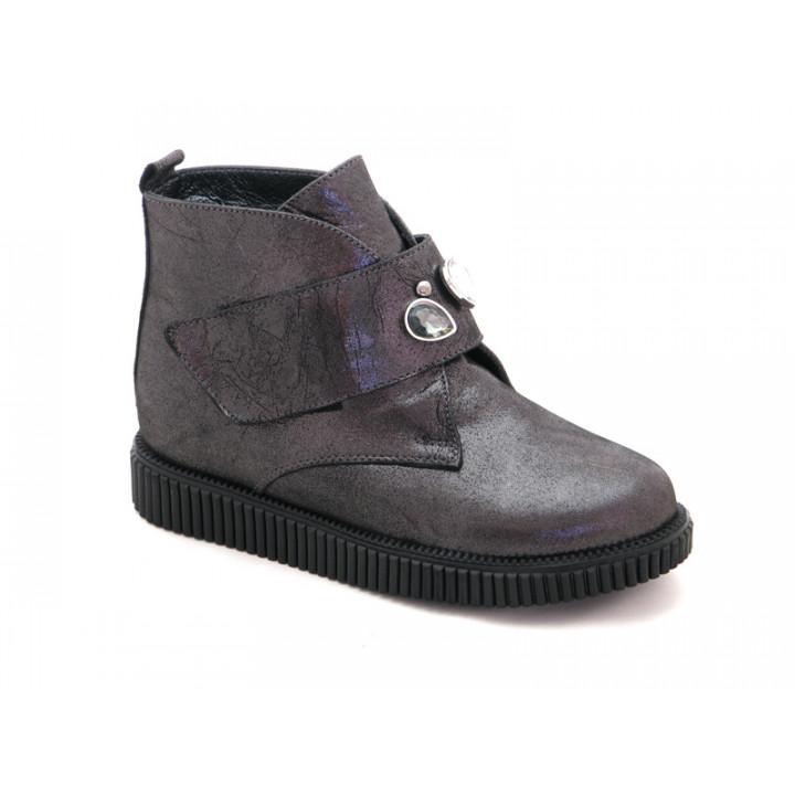 Купить кожаные демисезонные ботинки для девочки BRAVI 012030
