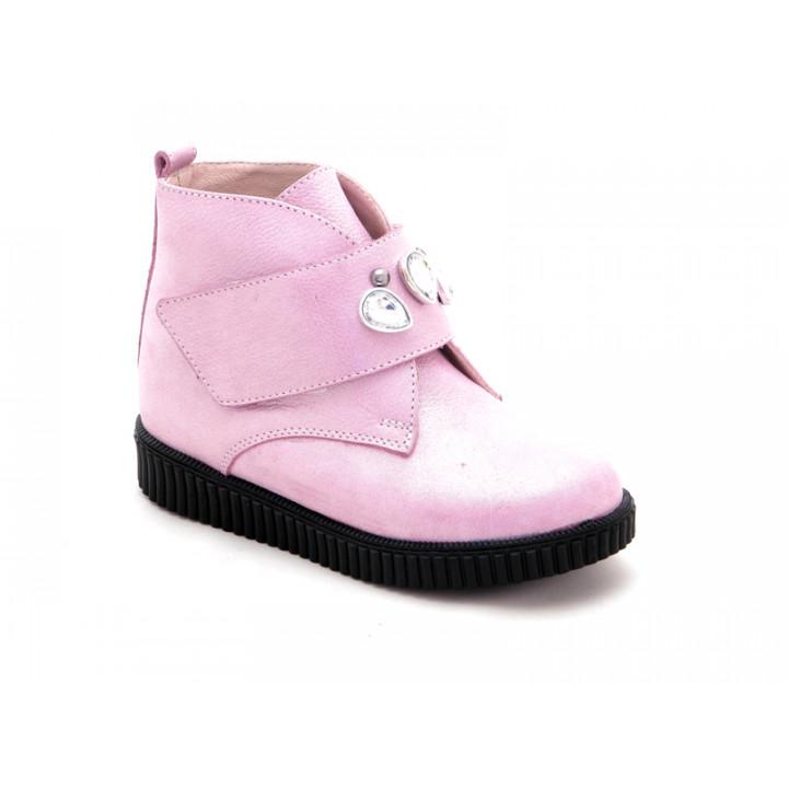 Купить кожаные демисезонные ботинки для девочки BRAVI 012027