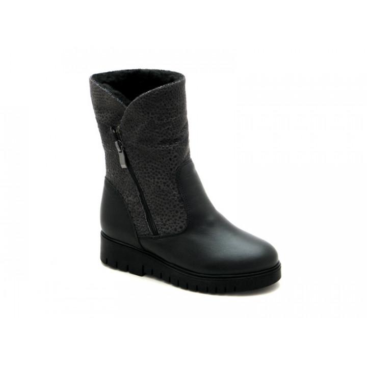 Купити шкіряні чобітки зимові для дівчат BRAVI 012146