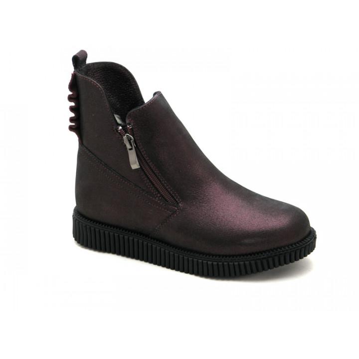 Купить кожаные зимние сапожки для девочки BRAVI 012155