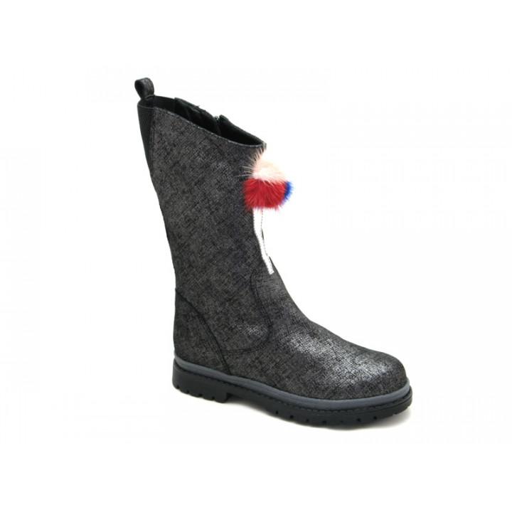 Купити шкіряні чобітки зимові для дівчат BRAVI 012158