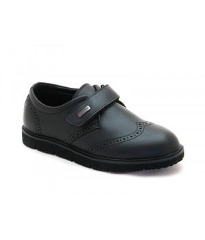 Школьные туфли для мальчика Apawwa D86 black (32-37р.)
