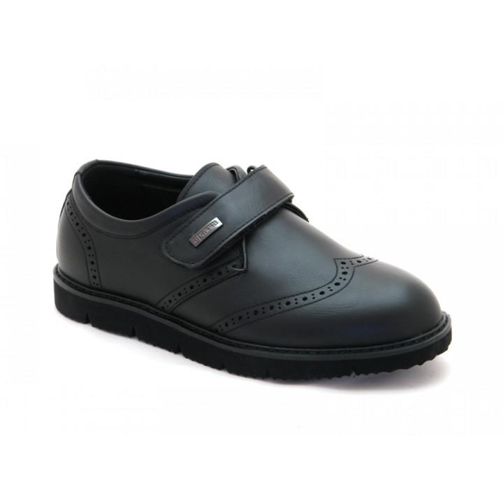Купить туфли школьные для мальчика Apawwa D86 black