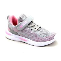 Кроссовки для девочек CliBee F867 Grey-Pink (32-37р.)