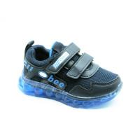 Кроссовки для мальчика CliBee L-27 LED blue (26-31р.)