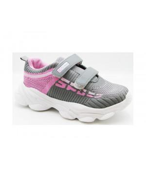 Кроссовки для девочек CliBee L-52 Grey-Pink (32-37р.)