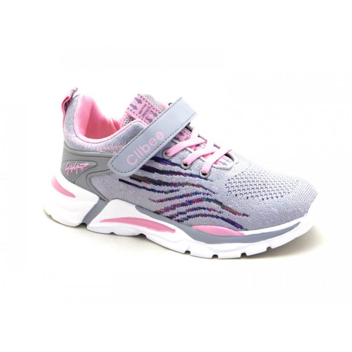 Купить кроссовки для девочек CliBee L-124 Grey-Pink