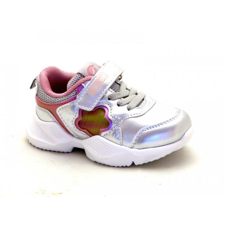 Купить кроссовки для ребенка CliBee F919 silver