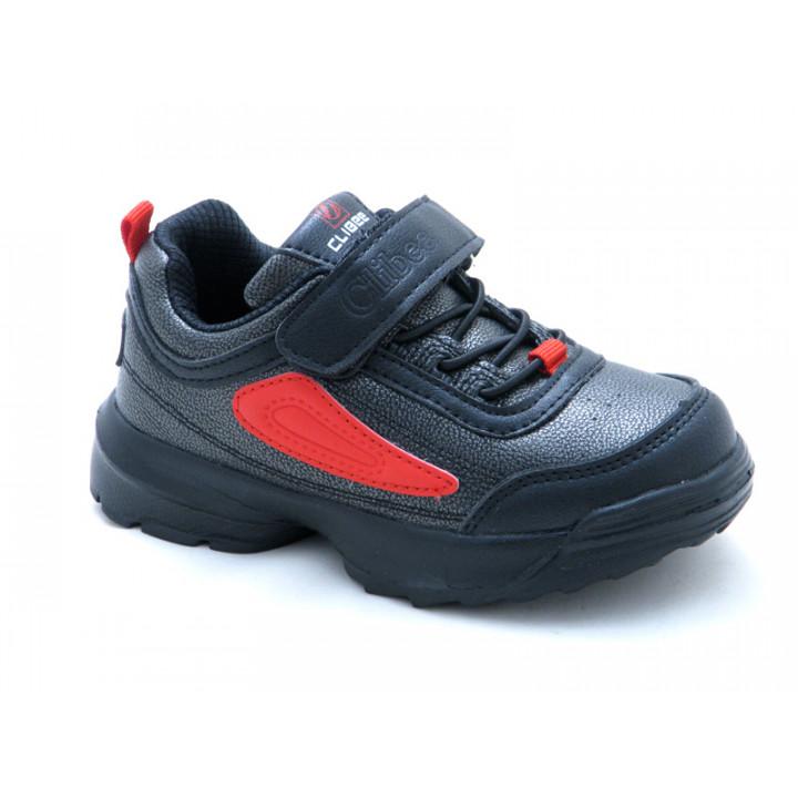 Купити дитячі кросівки CliBee F932 black-red