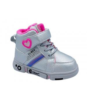 Демісезонні черевики для дівчинки CliBee H277 Silver (21-25р.)