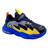 Кросівки для хлопчика CliBee L-254 black-yellow  (32-37р.)