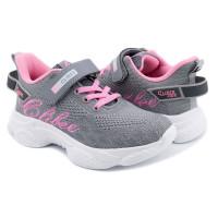 Кросівки для дівчинки CliBee F-9 grey-pink  (32-37р.)