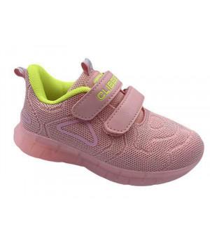 Кросівки для дівчинки CliBee F-15 pink-yellow  (26-31р.)