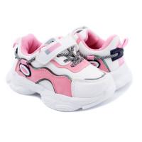 Кросівки для дівчинки CliBee F983 white-pink  (21-26р.)