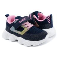 Кроссовки для девочки CliBee F985 blue-pink (21-26р.)