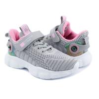 Кросівки для дівчинки CliBee F991 grey-l pink  (32-37р.)