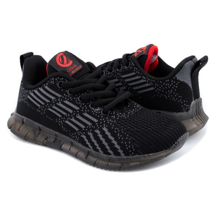 Купити дитячі кросівки на хлопчика CliBee F992 black-grey