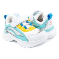 Кроссовки для девочки CliBee F979 white-l blue (27-32р.)