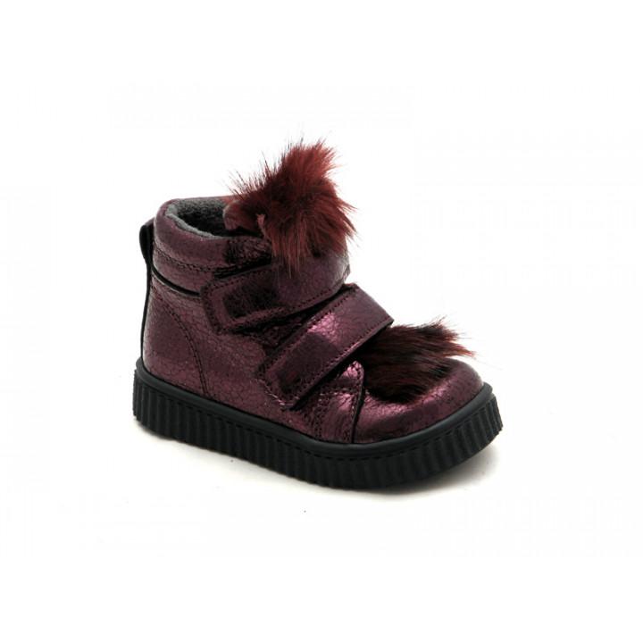 Купить демисезонные кожаные ботинки для девочки Krokky 12937-02