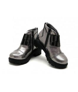 Демісезонні сріблясті черевики для дівчинки Krokky 12431-071 (26-30р.)