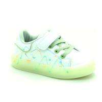 Кросівки для дівчат Apawwa GQ57-green LED   (21-25р.)
