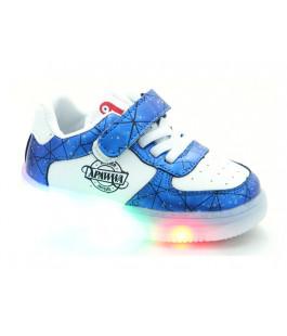Кросівки для дітей Apawwa GC61-navy LED   (21-25р.)