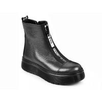 Стильные зимние ботинки для девочки MAXUS 1903 графит  (32-39р.)