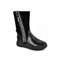 Стильні зимові чобітки для дівчинки MAXUS 1906 чорний  (32-39р.)
