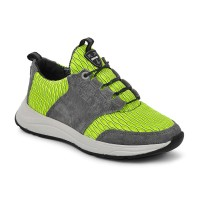 Стильні шкіряні кросівки для підлітків MAXUS 2136 салатовий  (32-39р.)