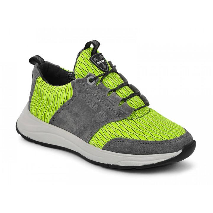 Купити шкіряні стильні кросівки для підлітків MAXUS 2136