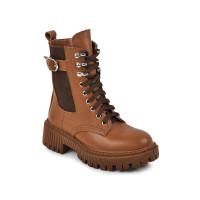 Стильні демісезонні черевики для дівчинки MAXUS berta табак  (32-39р.)