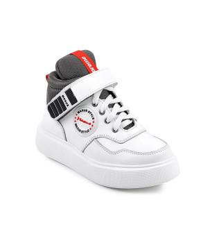 Стильні  шкіряні демісезонні черевики MAXUS supra білий  (32-39р.)