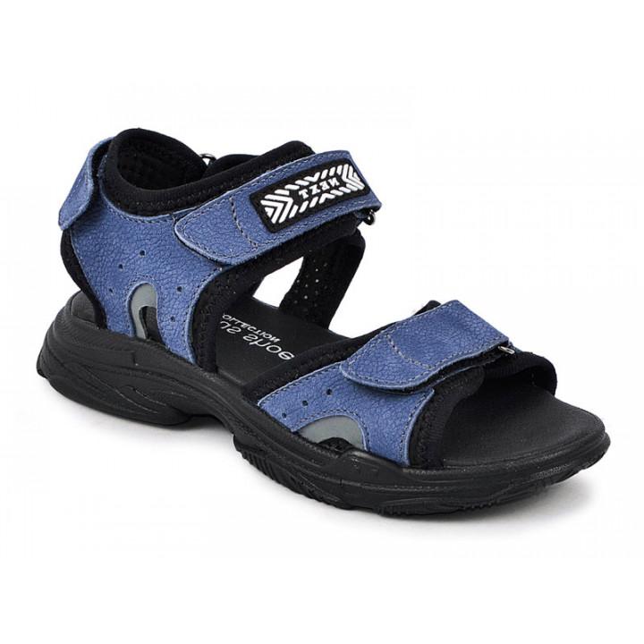 Купити шкіряні стильні босоніжки для хлопчика MAXUS X6 джинс нубук
