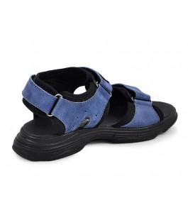 Стильні шкіряні босоніжки для хлопчиків MAXUS X6 джинс нубук  (32-39р.)