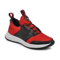 Стильные кожанные кроссовки для подростков MAXUS 2136 (32-39р.)