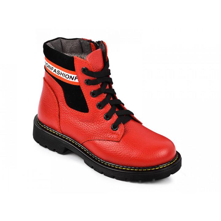 Купить кожаные зимние ботинки для девочки MAXUS snow 2011