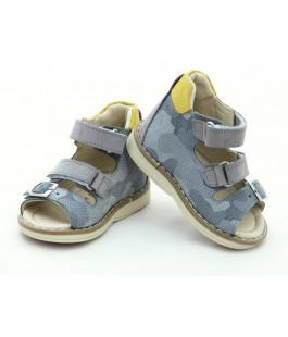 Шкіряні босоніжки для хлопчика Minno Kids Orthopedic 833 grey (18-20р.)