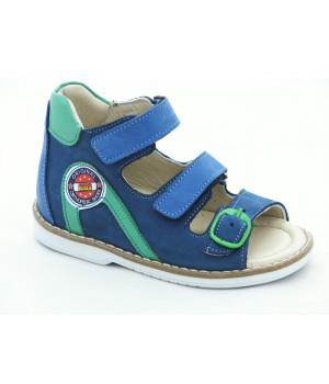Шкіряні босоніжки для хлопчика Minno Kids Orthopedic 833 blue (21-25р.)