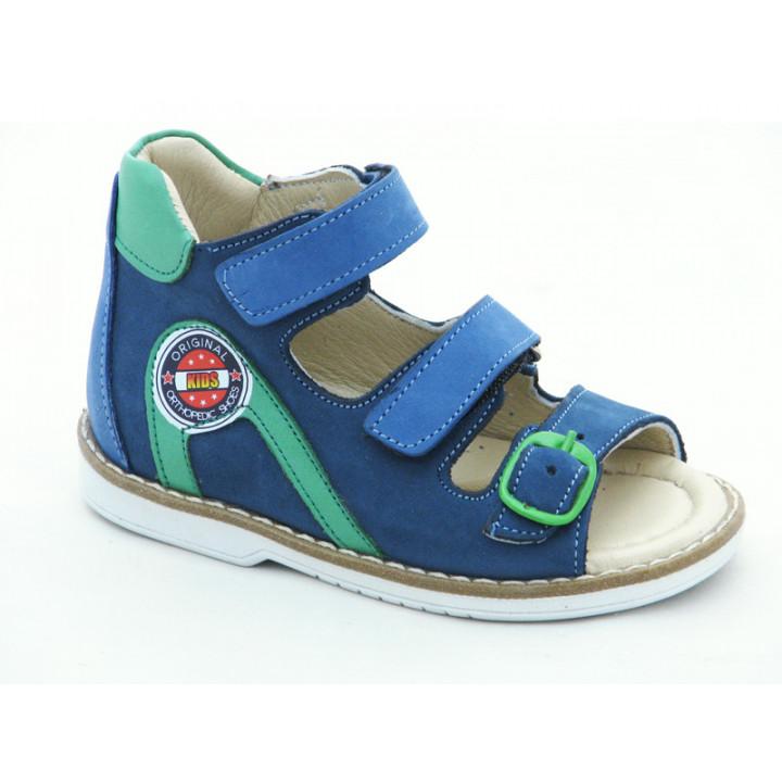 Купити шкіряні босоніжки для хлопчиків Minno Kids 833 blue