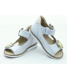 Шкіряні босоніжки для дівчинки Minno Kids Orthopedic 832 silver (26-30р.)