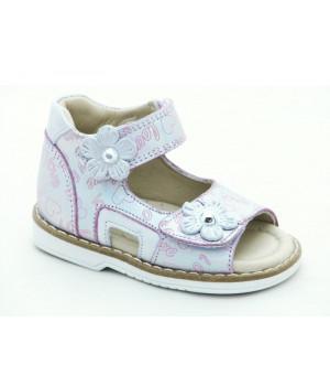Шкіряні босоніжки для дівчинки Minno Kids Orthopedic 832 poudra (18-20р.)