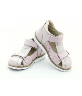 Шкіряні босоніжки для дівчинки Minno Kids Orthopedic 820 Poudra (26-30р.)