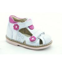 Шкіряні босоніжки для дівчинки Minno Kids Orthopedic 821 silver (18-20р.)