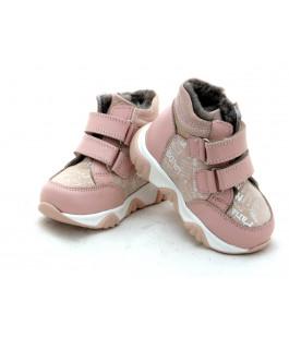 Шкіряні зимові черевички для дівчинки Minno Kids Orthopedic 715 pudra (21-25р.)