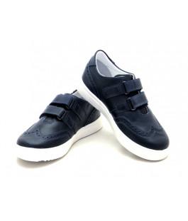 Туфли школьные для мальчиков Miracle Me 7005 синий (29-36р.)