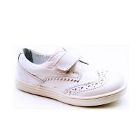Кожаные белые кроссовки для детей Miracle Me 4617  (23-26р.)