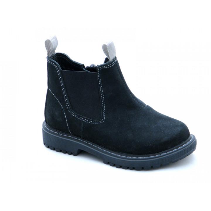 Ботинки демисезонные детские челси Miracle Me 7416 черный