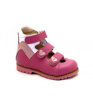 Ортопедичні профілактичні туфлі з жорстким задником ORTHOBE 013p (22-32р.)