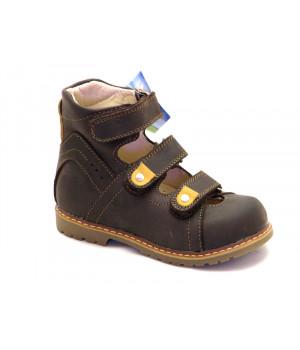 Ортопедичні профілактичні туфлі з жорстким задником ORTHOBE 013br (22-32р.)
